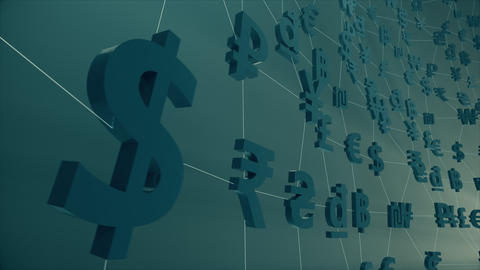 Currency / Forex / Fintech animation Footage