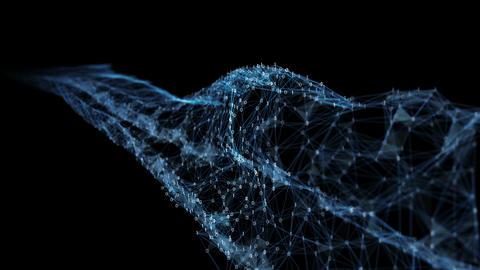 Abstract Motion - Digital Binary Polygon Plexus Data Networks Alpha Matte Animation