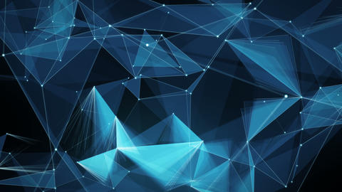 Abstract Motion Background - Digital Plexus Polygon Data Networks Animation