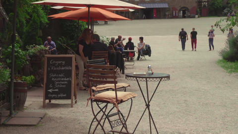 Tourists in Kloster Maulbronn, monastery Footage