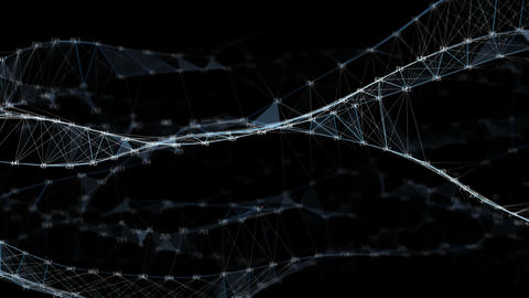 Abstract Motion Digital Polygon Random Digits Plexus Data... Stock Video Footage