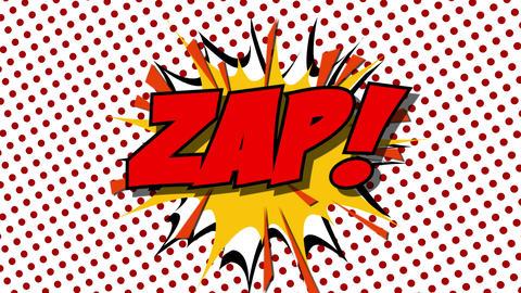 ZAP - word speech balloons comic style animation Animation
