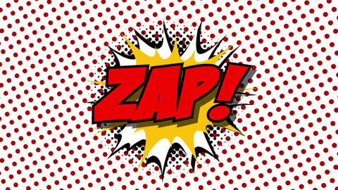 ZAP - word speech balloons comic style animation Animation