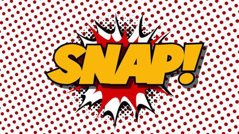SNAP - word speech balloons comic style animation Animation