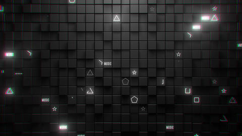 VJ Loop Blinking Wall Animation