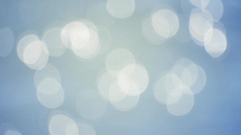 Abstract blur background of blue bokeh glitter Footage