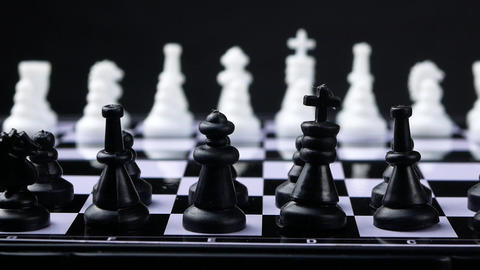 Chess concept save the king and save the strategy Footage