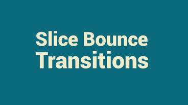 Slice Bounce Transitions Premiere Proテンプレート