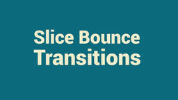 Slice Bounce Transitions Premiere Pro Template
