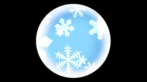 snow crystal effect Animation