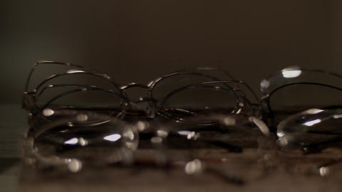 Glasses in retail store Footage