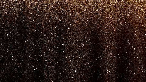 gold rain particles 영상물