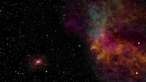 Nebula and Star Fields in Deep Space Animation