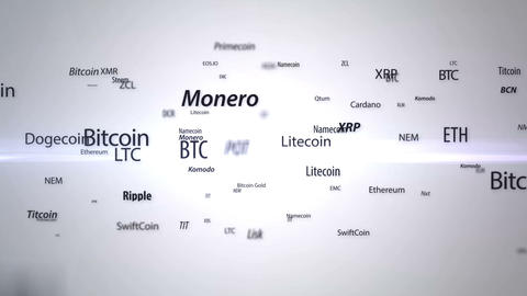 Cryptocurrency buzzword animation Image