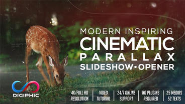 Modern Inspiring Cinematic Parallax Slideshow Opener After Effects Template