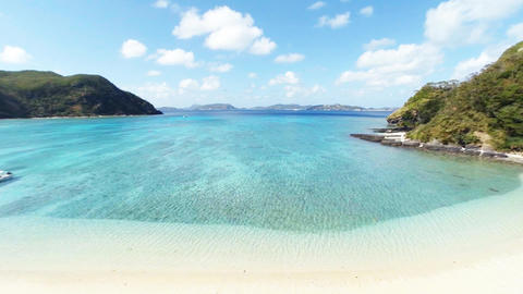 Aerial shooting Tokashikijima islands beach ビデオ