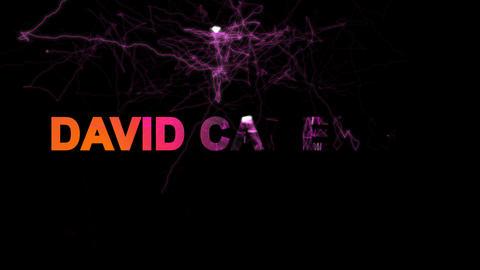 Person of the World Politics DAVID CAMERON multi-colored appear then disappear Animation