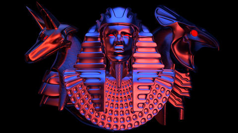 Pharaoh Head VJ Loop Animation