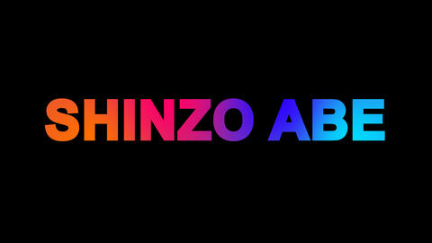Person of the World Politics SHINZO ABE multi-colored... Stock Video Footage