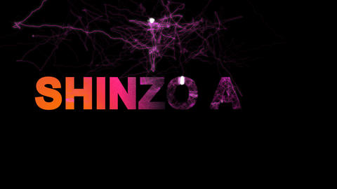 Person of the World Politics SHINZO ABE multi-colored appear then disappear Animation