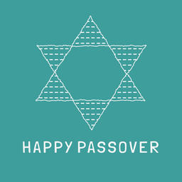 Passover holiday flat design white thin line icons of matzot in ベクター