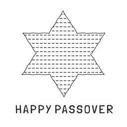 Passover holiday flat design black thin line icons of matzot in ベクター