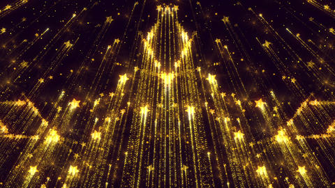 Background Animated Stars Beautiful Golden Flickering Particles Animation