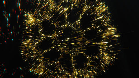 Particles Beautiful Golden Flickering Animated Background Loop Footage