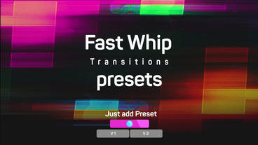 Fast Whip Transitions Presets Premiere Proテンプレート