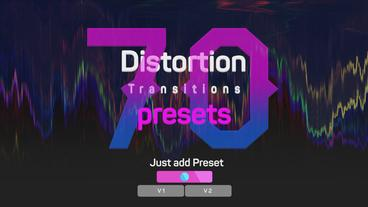 Distortion Transitions Presets 2 เทมเพลต Premiere Pro