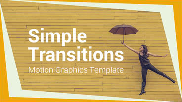 Simple Transitions Motion Graphics Template