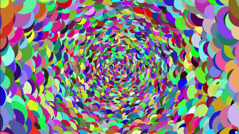 A hypnotic spiral animation Abstract background with beautiful/colorful sphere Animation