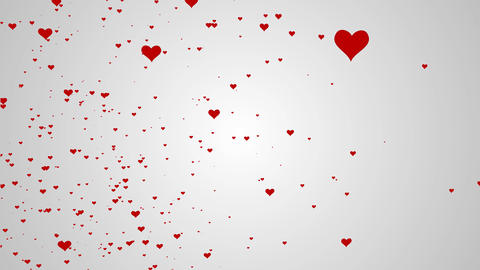 Abstract background with beautiful heart smooth animation Animation
