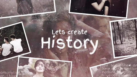 Lets Create History After Effects Template