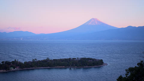 Mt.Fuji and Suruga bay at dawn Live Action