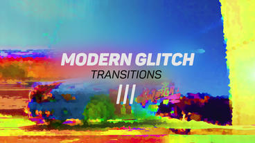 Modern Glitch Transitions 3 Premiere Pro Template