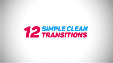 Simple Clean Transitions Premiere Proテンプレート