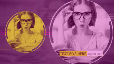 Color Circles Slideshow After Effects Template