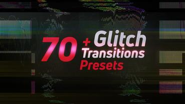 70+Glitch Transitions Presets Premiere Pro 템플릿
