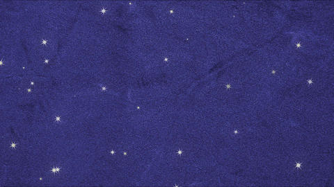 Blue velvet and many stars (loopable) Animation