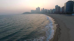 99 Early Spring of Haeundae, Busan, South Korea, Asia 13 Footage