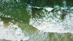Aerial Drone View Of Ocean Waves Crushing In Slow Motion ビデオ