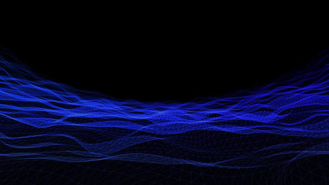 Wave wireframe01 Animation