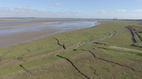 Flying Over the Mouth of Deeside Estuary Live Action