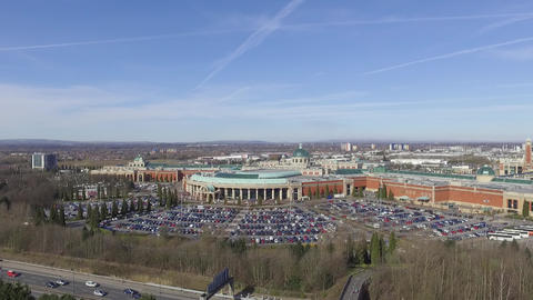 Steady View of the Trafford Centre from the Air Footage