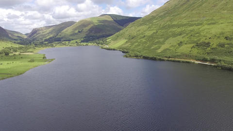 A Very Slow Moving Aerial Shot of Tal-y-Llyn Lake Live Action
