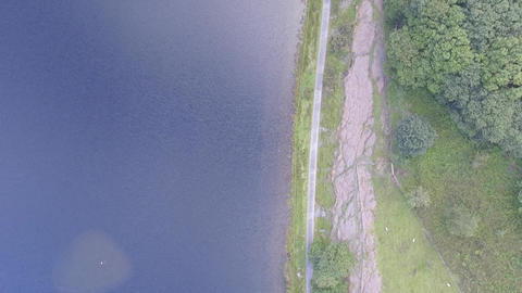 Tal-y-Llyn Lake, North Wales With a Downward Perspective Live Action
