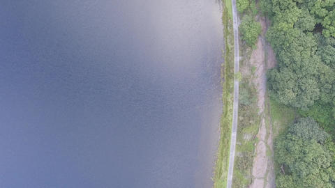 Tal-y-Llyn Lake North Wales With a Downward Perspective Footage