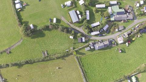 Downward Perspectives on Welsh Farm Land Live Action