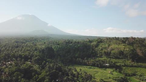 Batur volcano and Agung mountain from Kintamani, Bali, Indonesia Footage